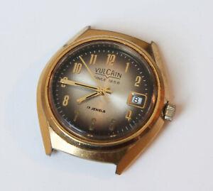 Vulcain Vintage Wristwatch GMT UT-30 C Manual Wind Movement 17 Jewels MEN Runs