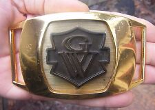 Vtg GOLD WING Belt Buckle GW Honda Goldwing Motorcycle LARGE Biker LOGO RARE VG+