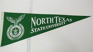 "New Vintage Old Stock University of North Texas UNT 12"" x 30"" felt pennant"