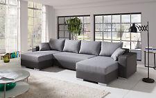 Couch Couchgarnitur Sofa Polsterecke 4112200/7 U Wohnlandschaft Schlaffunktion