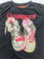 DESIGUAL T-Shirt Men's Size XXL - Cool Style & Converse / Trainers Design - COOL