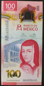 MEXICO NEW 2020 $100 SOR JUANA POLYMER banknote mint assorted series & sig. avl.
