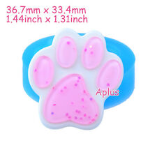 DEB358 36.7mm Animal Paw Silicone Mold Sugarcraft Fondant Resin Candy Soap Icing