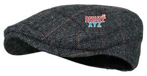 NEW Men's Herringbone Wool Tweed Newsboy Ivy Cabbies Driving Hat Cap