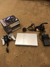 Sony PlayStation 2 Slim Launch Edition Satin Silver Console