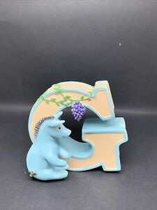 COLLECTABLE CLASSIC Pooh Bear Alphabet MICHEL &CO Letter F.New.Boxed