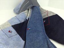 Men's TOMMY HILFIGER Blue ARGYLE 28% COTTON Dress Socks - 3 Pack- $32 MSRP