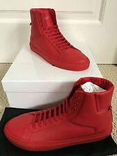 NIB Auth Givenchy Urban Street Knots Red Leather High Top Sneakers Sz 45 12 $550