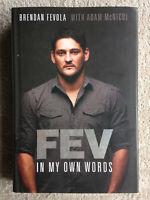 Brendan Fevola Autographed Hardback Book Carlton Blues Brisbane Lions AFL Footy
