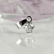 Anhänger Solitär in 585 Weißgold 14K mit 1 Diamant ca 0,35 ct Top Crystal si2