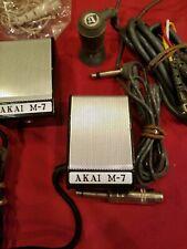 Vintage AKAI M-7 Dynamic MICROPHONES  Terecorder