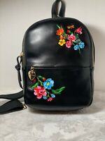 Betsey Johnson Black Sling Shot Embroidered Small Back Pack NWT 50%