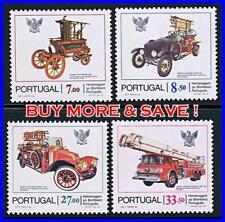 PORTUGAL 1981 FIREFIGHTERS - TRUCKS SC#1516-19 MNH