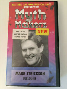 RARE Doctor Who : Mark Strickson Turlough 1 of ONLY 200 Ltd Ed Signed copies  JP