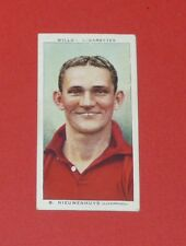 CIGARETTES CARD WILLS FOOTBALL 1939 B. NIEUWENHUYS LIVERPOOL REDS ANFIELD ROAD
