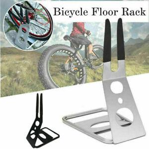 Road MTB Bike Bicycle Stand Triangle Floor Parking Bike Rack Stand Holder Black