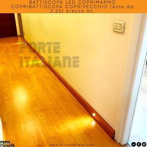 BATTISCOPA LED COPRIMARMO COPRIBATTISCOPA COPRIVECCHIO (Aste da 2,25) prezzo ml.