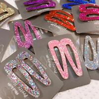 Women Multi-color Sequins Hair Clip Snap Barrette Hairpin Hair Accessories 1Pair