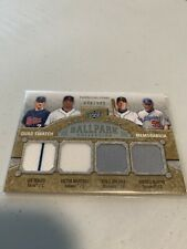 2009 Ballpark Collection Joe Mauer/Martinez/Johima/Martin Quad Game Jersey /500