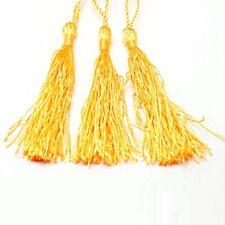 10 QUASTEN Tassel Nylon Anhänger GOLD 12cm für Schmuckherstellung DEK10