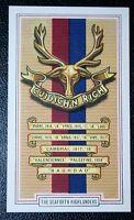 Seaforth Highlanders   World War 1 Battle Honours  Card # CAT B