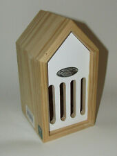 Butterfly House White Pinewood New Esschert Design 9 Inches High Back Opens