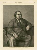 1873 - Antique Print PORTRAIT Tichborne Trial Claimant Man Chair   (017)