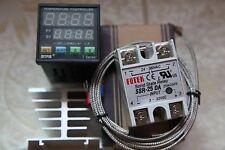Digital F/C PID Temperature Controller TA4-SSR +2M  K Sensor+ 25A SSR+Heat Sink