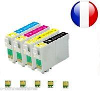 CARTOUCHES COMPATIBLES NON-OEM Epson STYLUS T1291 T1292 T1293 T1294 AVEC PUCE