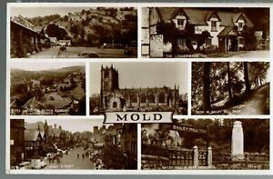 VALENTINES RP MULTIVIEW POSTCARD MOLD 1935 - Bloxwich