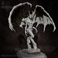 Unpainted 80MM Devil Girl Resin Beauty Girl Figure Model Kit Unassembled GK