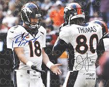 Julius Thomas Peyton Manning signed Denver Broncos 8X10 photo autograph pic RP