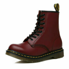 British Men's 8 Hole Martin Boots High-top Classic Genuine Leather Ankle Boots