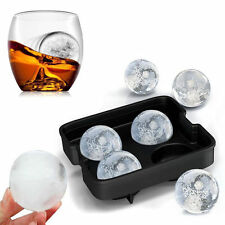 DIY Round Cocktails Ball Four Large Sphere Molds Mould Silicone Mold Ice Tray