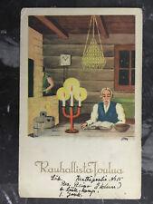 1939 Finland Army Feldpost Postcard Cover to Pori Christmas