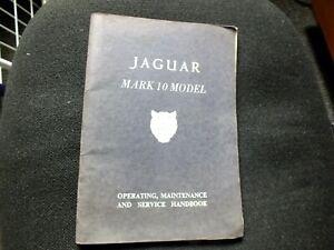 Jaguar MK10 drivers handbook publication number E/124/3