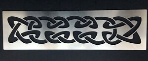 Celtic Knot Band Pattern Stainless Steel Stencil Pyrography Emboss 3cm x 13.5cm