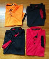 HAODING DST 4 PC LOT Men's Polo Shirts Tag XXL Fits like Lg Multicolor Contrast