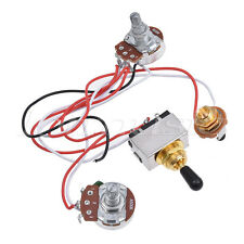 Prewired Wiring Harness 3 Way Toggle Switch 500k Pots for Electric Guitar Parts