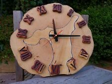 Large wooden wall clock, new, handmade, handcrafted, home art, shop, office, pub