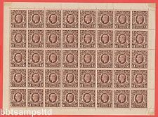 SG. 478c. A fine UNMOUNTED MINT complete sheet of 40.