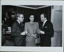Albert Hadley, Marilyn Evens, Richard Perlman ORIGINAL PHOTO HOLLYWOOD Candid
