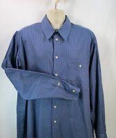Ermenegildo Zegna Men's Shirt, 2XL, Pre-owned, Long Sleeve, 100% Cotton, Blue