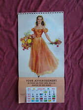 """Vintage JULES ERBIT Pin Up """"LOVELY TO LOOK AT"""" Litho 20 x 10"""