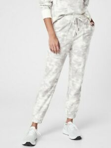ATHLETA Farallon Printed Jogger 12 ( L Large ) Inversion Light Grey Pants NEW
