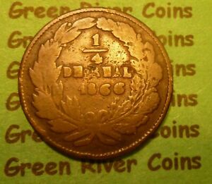 LIBERTAD COIN 1/4 DRHAL 1866  #L66