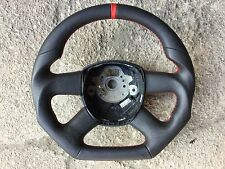 AUDI A3 A4 A5 A6 Q7 A8 CUSTOM MADE FLAT BOTTOM 4SPOKE STEERING WHEEL