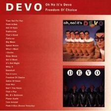 DEVO - OH NO IT'S DEVO & FREEDOM OF CHOICE  CD 25 TRACKS INTERNATIONAL POP NEW+
