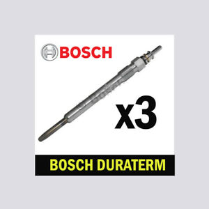 3x Bosch Glow Plugs for VW POLO 1.2 TDI CFWA 6R 75bhp