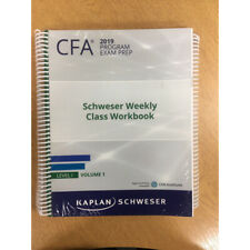 NEW CFA 2019 Kaplan Schweser Level I Examp Prep Workbook Volume 1+2